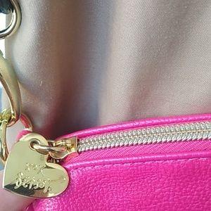 BETSY Johnson crossbody Hot pink purse